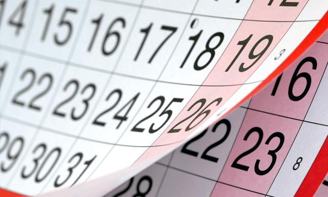 Calendário CEST