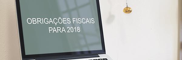 obrigações fiscais para 2018