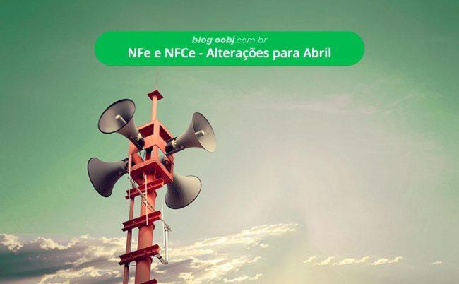 nfce e nfe 2019 alterações para abril